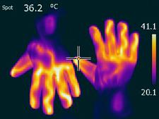 beheizbare handschuhe_waermebild_ frieren_36,2Grad